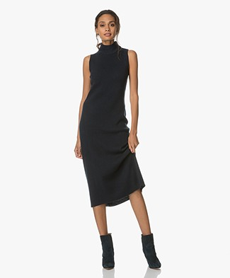 Rag & Bone Ace Cashmere Sleeveless Dress - Navy