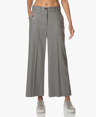 Rag & Bone Crane Wide-leg Cropped Pants - Heather Grey
