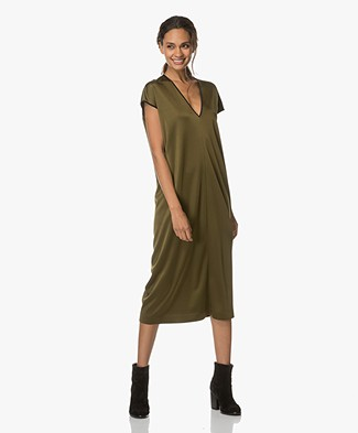 Rag & Bone Lex Midi Dress - Army Green