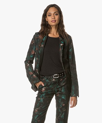 Zadig et Voltaire Very Jungle Blazer - Black/Multicolored