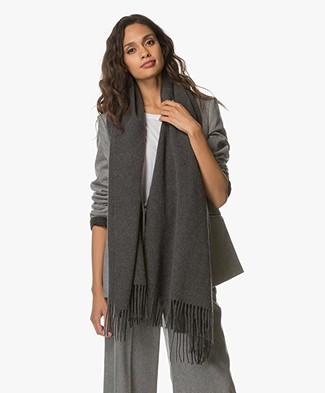 Drykorn Abadi Woolen Scarf - Dark Grey
