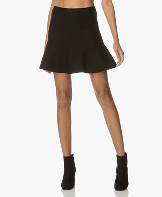Ba&sh Tribeca Flared Mini Skirt - Black