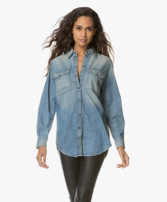 Drykorn Elza Denim Blouse - Light Blue