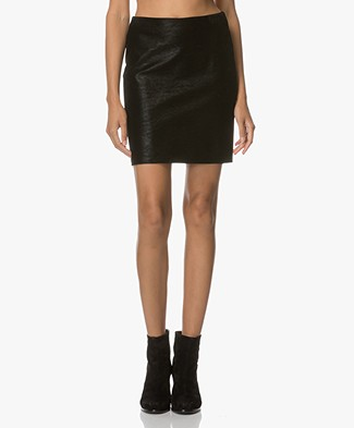 Drykorn Naja Structured Mini Skirt - Black