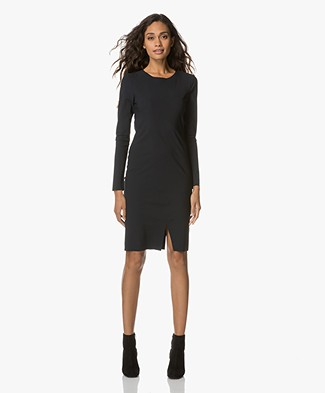 Woman by Earn Tove Jersey Jurk - Navy
