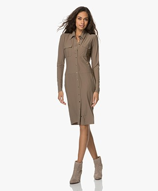 Woman by Earn Ilse Jersey Shirt Dress - Army