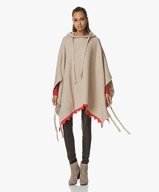 Zadig et Voltaire Wool Poncho - Ficelle