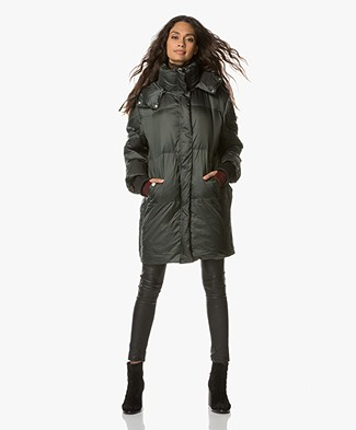 By Malene Birger Padded Coat - Scarab Green