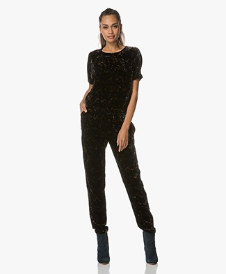 Vanessa Bruno Day Velvet Jumpsuit - Black