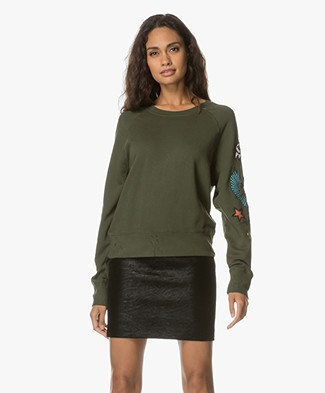 Zadig et Voltaire Upper Embroidered Sweater - Khaki