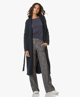 Filippa K Structure Long Cardi - Midnight