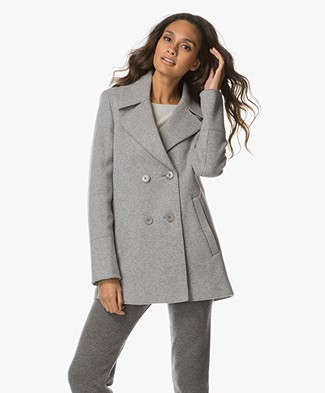 Drykorn Stradford Wool Coat - Light Grey
