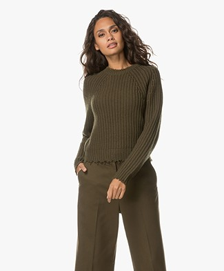 Zadig et Voltaire Kary Ribbed Sweater - Khaki
