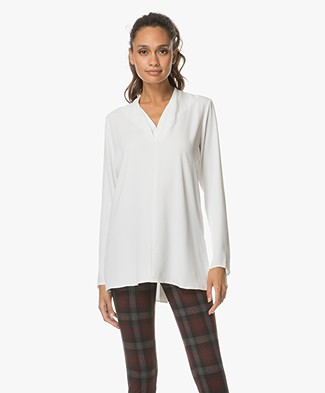 Woman by Earn Demi V-neck Blouse - Off-white