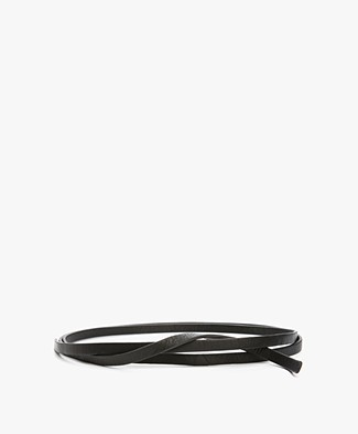 BY-BAR Leather Knot Belt - Black
