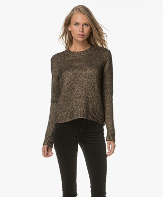 Drykorn Bekah Knitted Pullover - Gold/Black