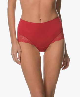 SPANX® Undie-tectable Lace Hi-Hipster - Red