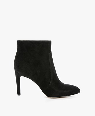 Sam Edelman Olette Suede Ankle Boots - Black