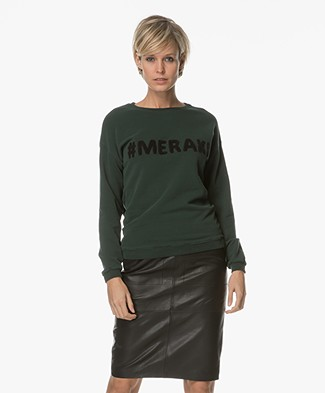 BY-BAR Meraki Sweater - Donkergroen