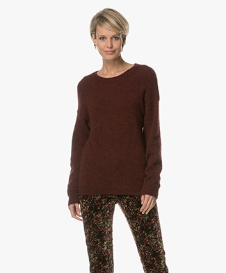 BY-BAR Moss Pullover with Mohair - Wine Red