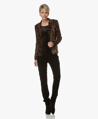 Ba&sh Irayne Printed Velvet Blazer - Multicolored