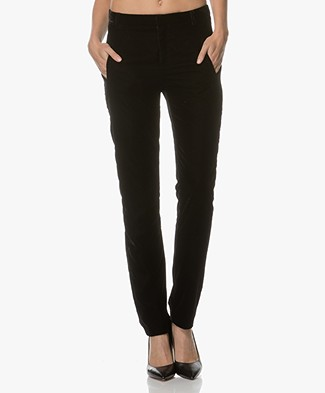 Ba&sh Room Velours Pantalon - Zwart