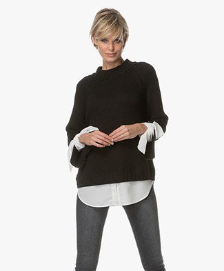 Brochu Walker Remi Layered Look Pullover - Black/White