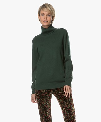 Closed Turtleneck Pullover - Hamptons Green
