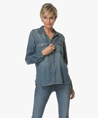 Current/Elliot The Perfect Shirt in Denim - Miner