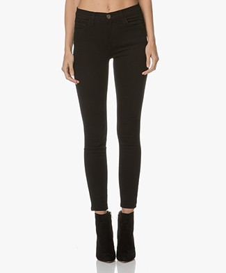 Current/Elliott The High Waist Stiletto Jeans - Jet Zwart