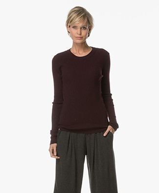 FWSS Snowball Ribbed Turtleneck - Winetasting