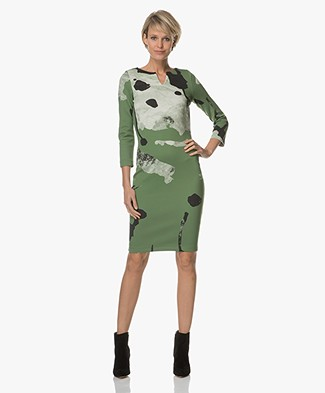 Kyra & Ko Rebekka Soft Scuba Dress - Green