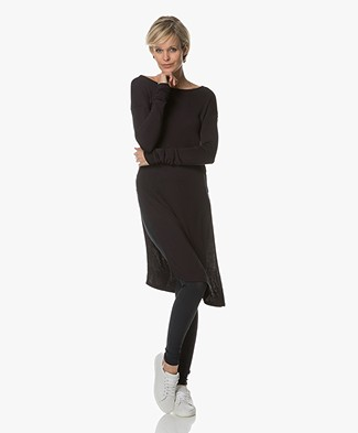 Majestic Long Top with Side Splits - Marine