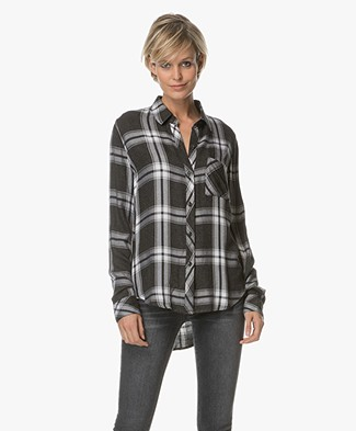 Rails Hunter Checkered Blouse - Ash/Bone