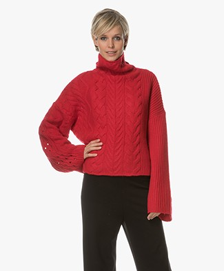 Zadig et Voltaire Abby Turtleneck Pullover - Rood