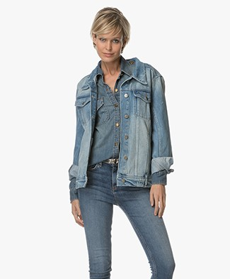 Anine Bing Vintage Wash Denim Jacket - Vintage Blue