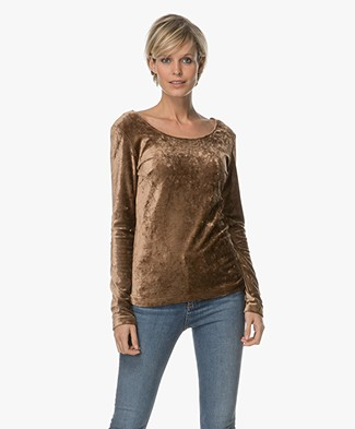 no man's land Fluwelen Shirt - Autumn Bronze