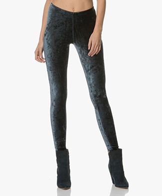 no man's land Fluwelen Legging - Dark Seamoss