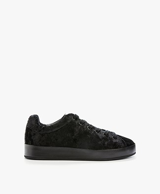Rag & Bone RB1 Low Fluwelen Sneakers - Zwart Velvet