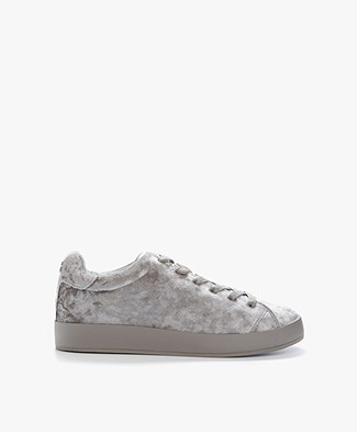 Rag & Bone RB1 Low Velvet Sneakers - Dove Velvet