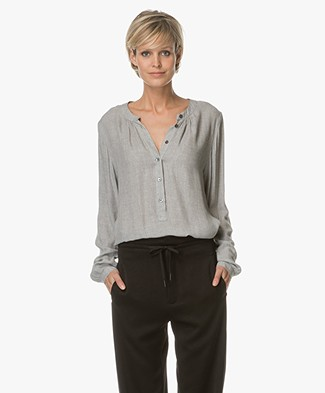 Closed Leslie Viscose Blouse - Light Grey Gelange