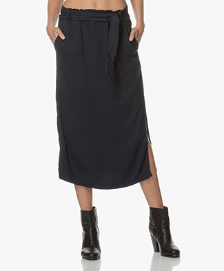 Marie Sixtine Corrado Midi Skirt in Viscose - Sailor