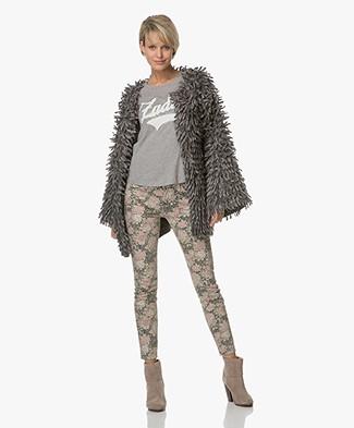 Fine Edge Limited Edition Alpaca Wool Cardigan-Jacket - London Fog