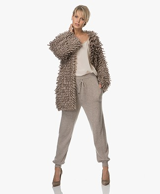 Fine Edge Limited Edition Alpaca Wool Cardigan-Jacket - Simply Taupe