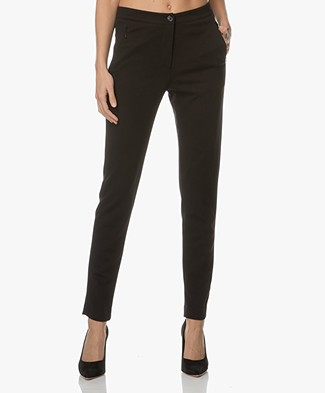 no man's land Slim-fit Pantalon - Core Black