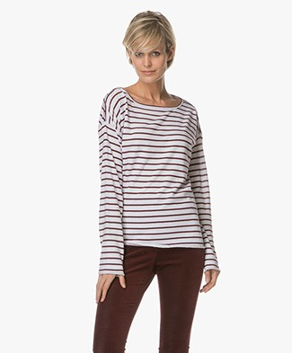 Rag & Bone / Jean Dakota Longe Sleeve - Port Stripe