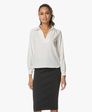 BY-BAR Classic Blouse - Off-White