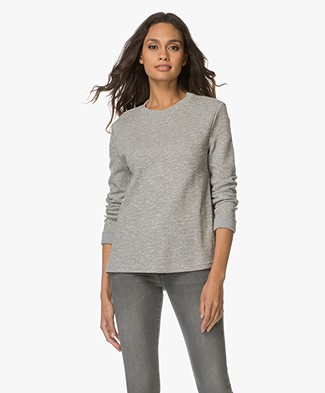 BOSS Orange Tusweat Sweater with Side Slits - Medium Grey