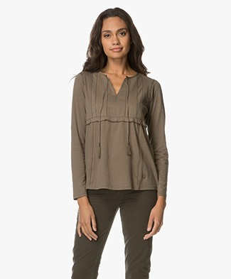 Indi & Cold Camiseta Organic Cotton Jersey Blouse - Topo