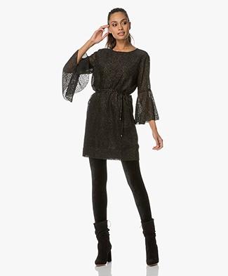 Project AJ117 Adrianna Lurex Mini-jurk - Zwart